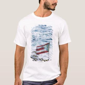 T-shirt Porto Rico, vieux San Juan, drapeau de riz de
