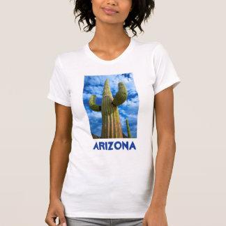 T-shirt Portrait de cactus de Saguaro, Arizona