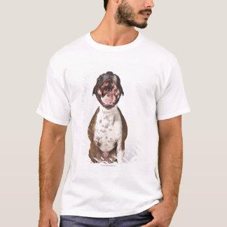 T-shirt portrait de chien de boxeur baîllant