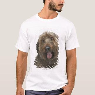 T-shirt Portrait de chien de Briard