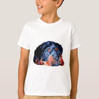 T-shirt Portrait de chiot de rottweiler