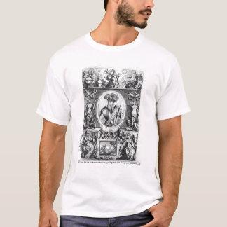 T-shirt Portrait de Francisco Pizarro avec allégorique