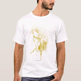 T-shirt Portrait de gradient de deux visages