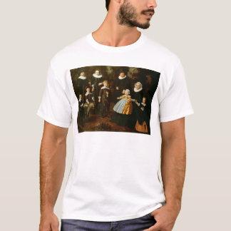 T-shirt Portrait de groupe de trois générations d'a