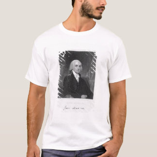 T-shirt Portrait de James Madison, gravé par William A.