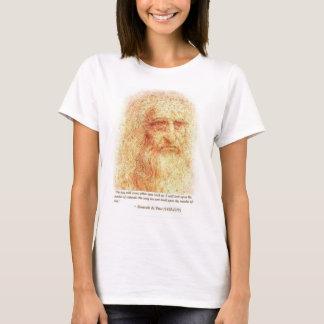 T-shirt portrait de lenoardo