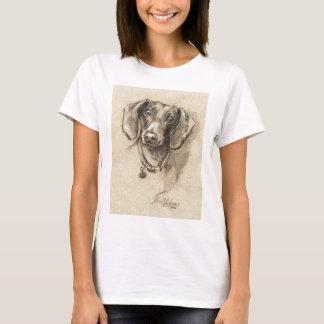 T-shirt Portrait de teckel