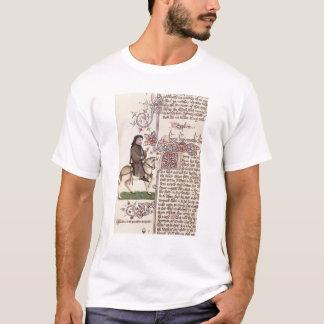 T-shirt Portrait de télécopie de Geoffrey Chaucer de