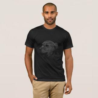 T-shirt Portrait des textes de golden retriever