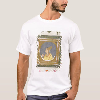 T-shirt Portrait d'une dame tenant un pétale de lotus, de