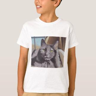 T-shirt Portrait gris d'animal familier de chat