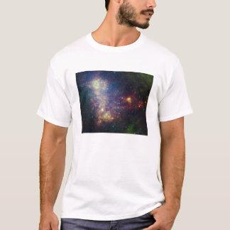 T-shirt Portrait infrarouge indiquant les étoiles et la
