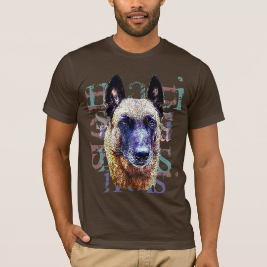 t-shirt portrait malinois
