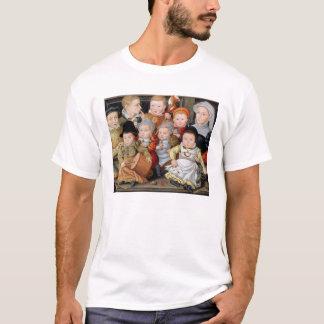 T-shirt Portrait T33337 d'une mère avec son childre huit