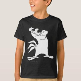 T-shirt Pose 2 de position de leghorn de corne de brume