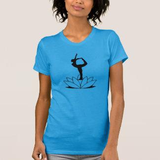 T-shirt Pose de danseur - femmes de pièce en t de yoga