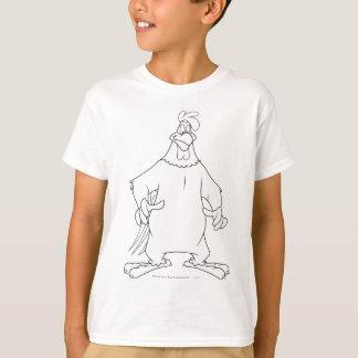 T-shirt Pose de position de leghorn de corne de brume