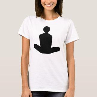 T-shirt Position de Lotus dans le graphique noir
