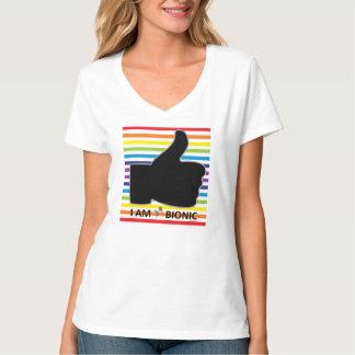 T-shirt pouce bandes colorées