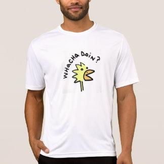 T-shirt Poulet curieux Microfiber T