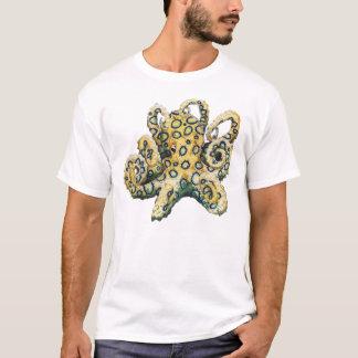 T-shirt Poulpe bagué bleu