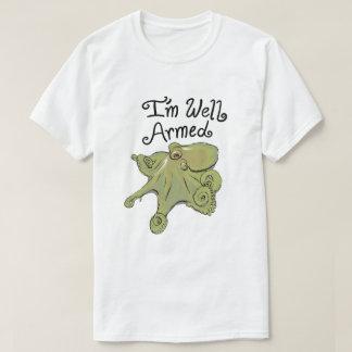T-shirt Poulpe bien armé - chemise drôle