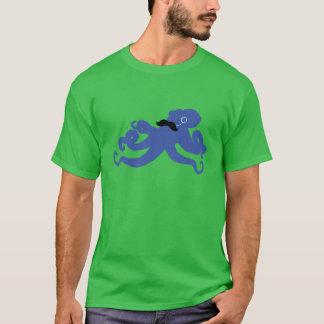 T-shirt poulpe mustached avec un monocle