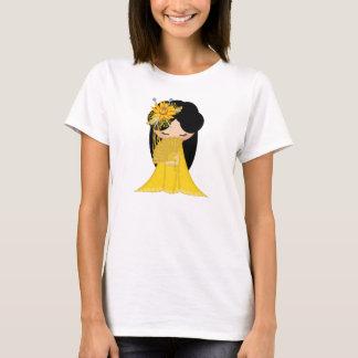 T-shirt Poupée de Kokeshi d'harmonie dans les mélanges du