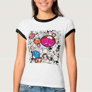 T-shirt Poupées de Kokeshi de Japonais