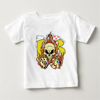 T-shirt Pour Bébé 13 matrices et crânes chanceux