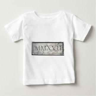 T-shirt Pour Bébé 2017 marbres MMXVII