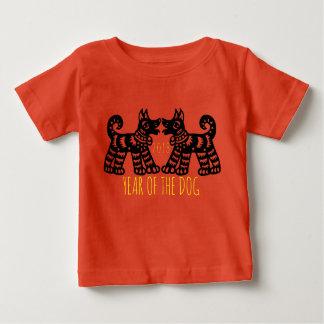 T-shirt Pour Bébé 2 chiens pour le bébé 2018 chinois de nouvelle