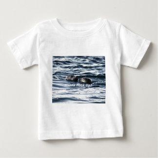 """T-shirt Pour Bébé 2 joints : """"Voulez connecter"""" (faisant un passage)"""