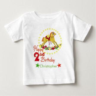 T-shirt Pour Bébé 2ème Cheval de basculage d'anniversaire