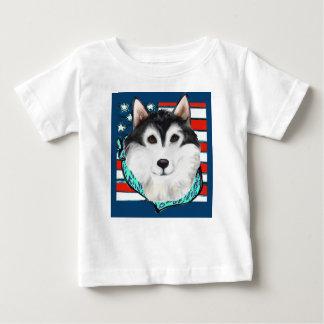 T-shirt Pour Bébé 4 juillet Malamute d'Alaska