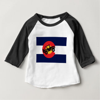 T-shirt Pour Bébé 4-Wheeler-in-CO-Flag-2