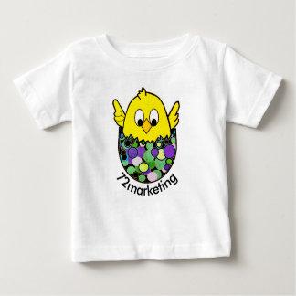T-shirt Pour Bébé 72marketing poussin Pâques hachant le dessus de
