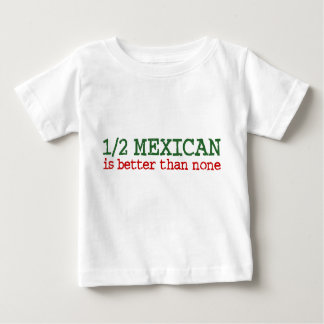 T-shirt Pour Bébé À moitié mexicain