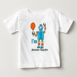 T-shirt Pour Bébé Ă?re fête d'anniversaire de robot