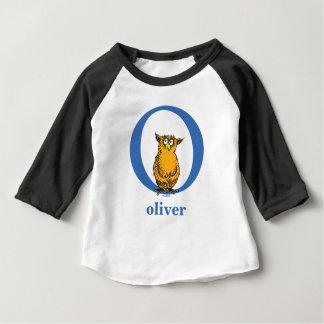 T-shirt Pour Bébé ABC de Dr. Seuss's : Lettre O - Le bleu   ajoutent