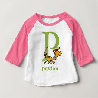 T-shirt Pour Bébé ABC de Dr. Seuss's : Lettre P - Le vert | ajoutent