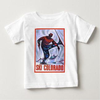 T-shirt Pour Bébé Affiche vintage de ski, ski le Colorado