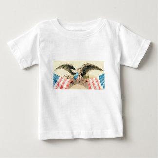T-shirt Pour Bébé aigle et joint de drapeaux
