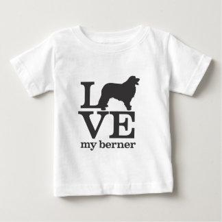 T-shirt Pour Bébé Aimez mon chien de montagne de Bernese