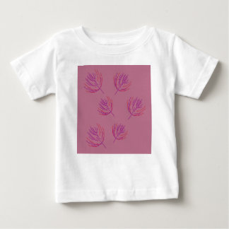 T-shirt Pour Bébé Algues roses