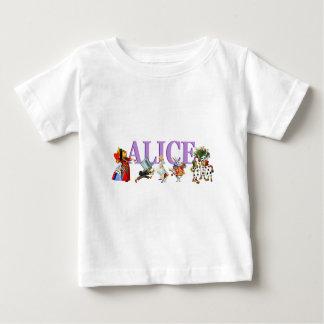 T-shirt Pour Bébé Alice au pays des merveilles et amis