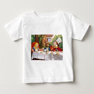 T-shirt Pour Bébé Alice au thé du chapelier fou au pays des