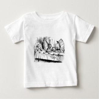 T-shirt Pour Bébé Alice au thé fou