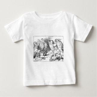 T-shirt Pour Bébé Alice, souris et oiseaux