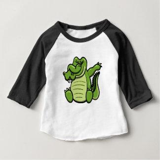 T-shirt Pour Bébé Alligator tamponnant d'animaux